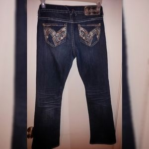 Hydraulic Brand Sequined Denim Jeans
